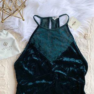 FP Emerald Crushed Velvet Dress